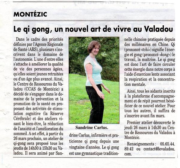 qi gong au Valadou, Aveyron par Sandrine Carlus