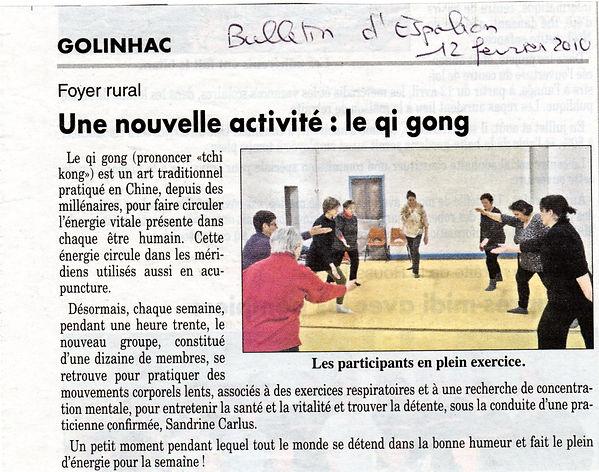 qi gong à Golinhac par Sandrine Carlus