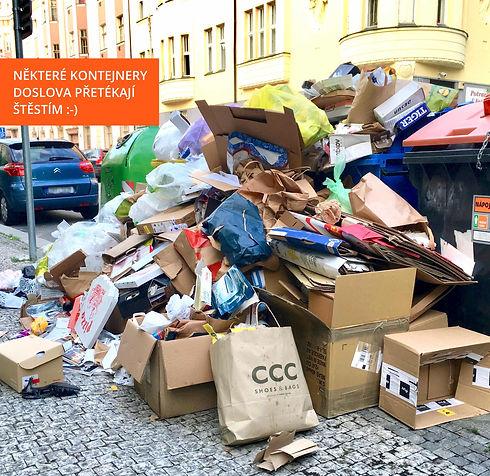 Přeplněné kontejnery Praha 8