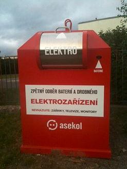 Sběrný kontejner na drobný elektroodpad