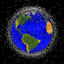 Počítačová simulace sledovaných kusů kosmického odpadu na nízké oběžné dráze