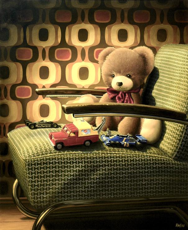 Teddy bear and Corgi by Pavel Holý