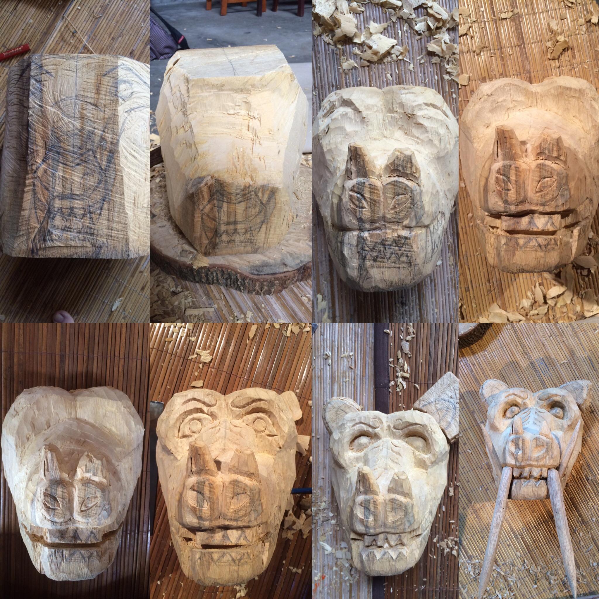 Barong Mask Progression