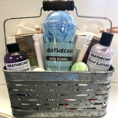 Metal Basket Gift Set