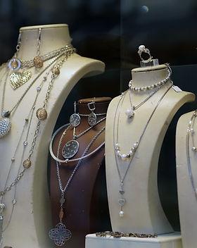 Jewelry store in old Turkish bazaar in S