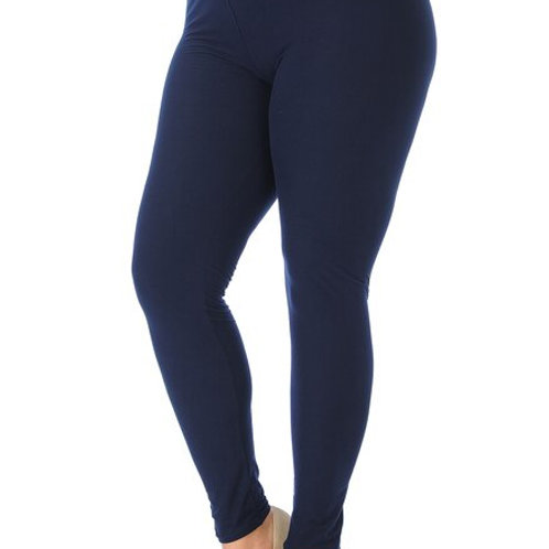 Buttery Soft Basic Solid High Waisted Plus Size Leggings - 3x -5x