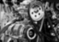 black-and-white-car-engine