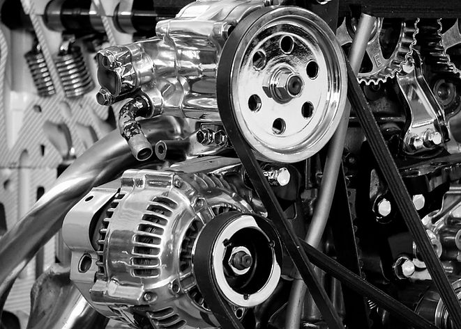 black-and-white-car-engine