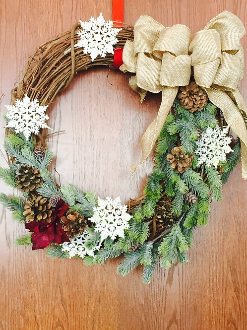 Wood Holiday Wreath by Shauna Gargano