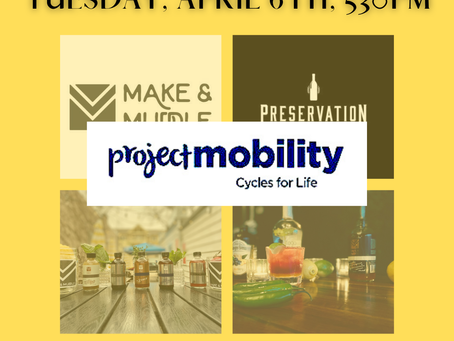 Make & Muddle Cocktail Class to Benefit Project Mobility!