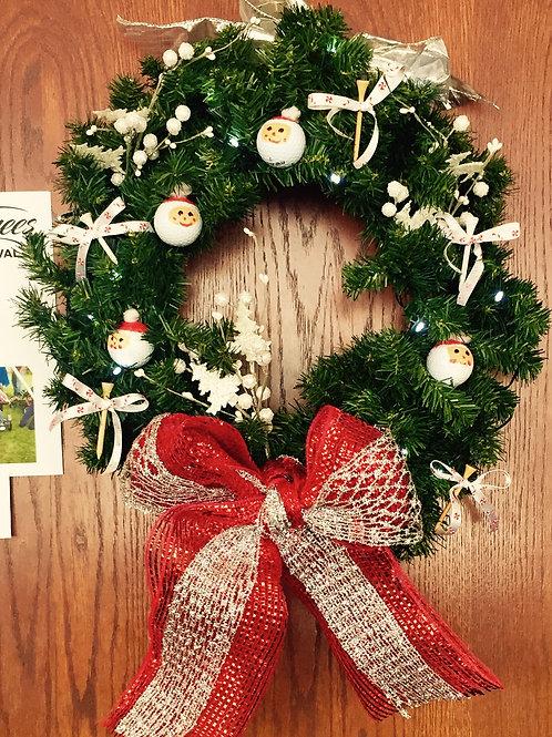 Santa Holiday Wreath
