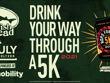 Announcing our Presenting Sponsor for Hops for Hope 5K 2021.... Dogfish Head  & Truly Hard Seltzer!