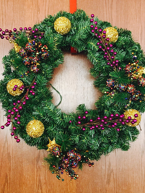 Holiday Wreath by Your Disability Funding Specialist