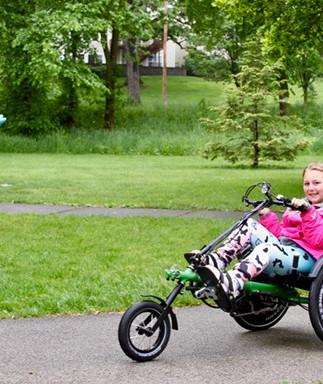 2017 Adaptive Bike Giveaway Recipient