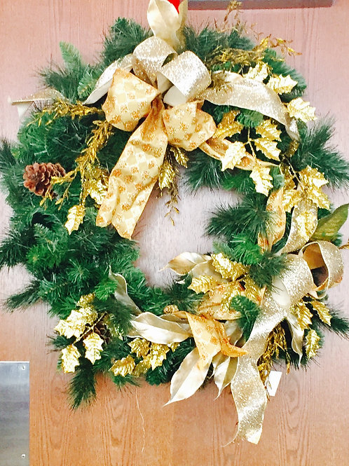 Gold Janeen Home Decor Holiday Wreath