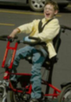 Jacob Enjoying an adaptive bike