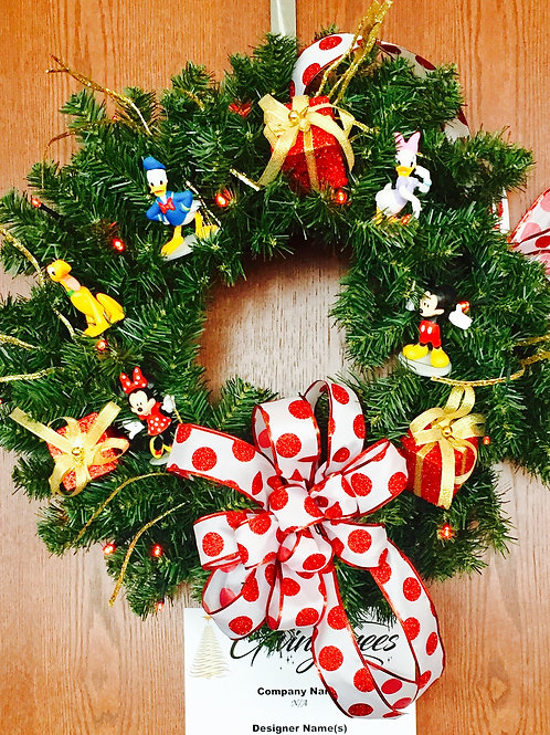 Mickey Mouse Wreath by Amy Milz