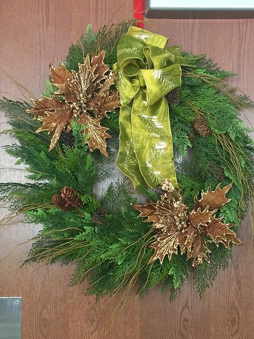Gold Design Essentials Holiday Wreath