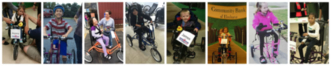 Project Mobility Kids on bikes