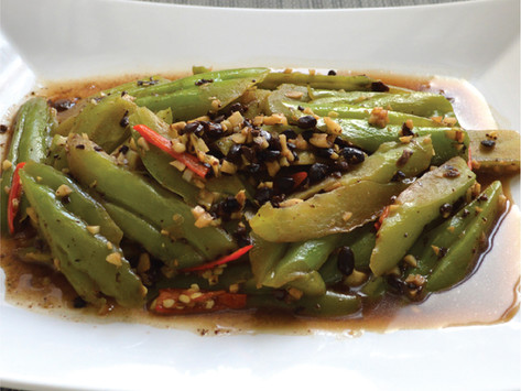 Sauteed Bitter Gourd with Black Bean Paste 五香豆豉焗苦瓜