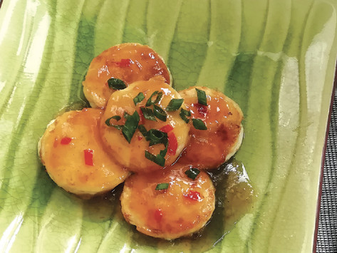 Egg Curd with Plum Sauce 梅醬玉子豆腐