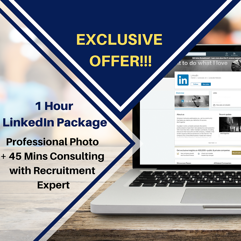 LinkedIn Package - Recruitment Expert Consulting + Professional Photo