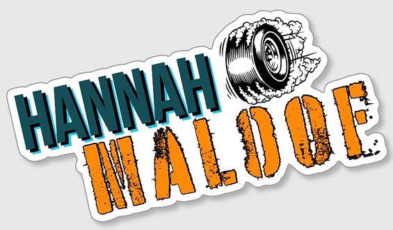 Hannah Maloof Burnout Sticker