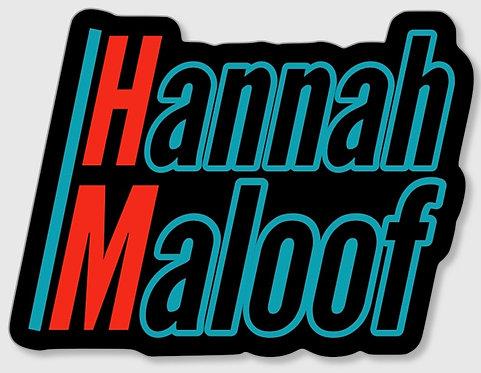 Hannah Maloof Logo Sticker