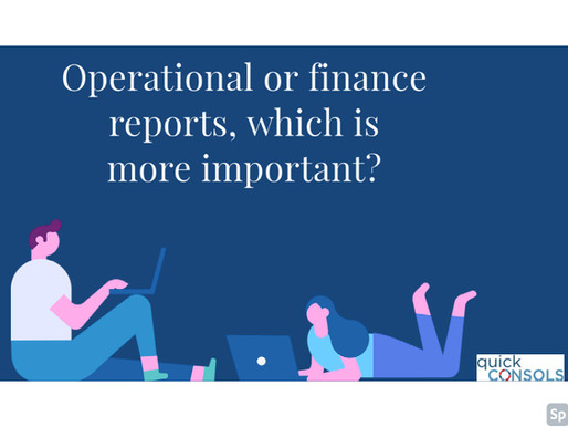 Operational or finance reports, which is more important?