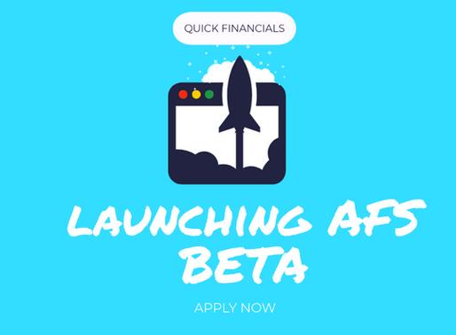 Quick Financials Beta Testing Application