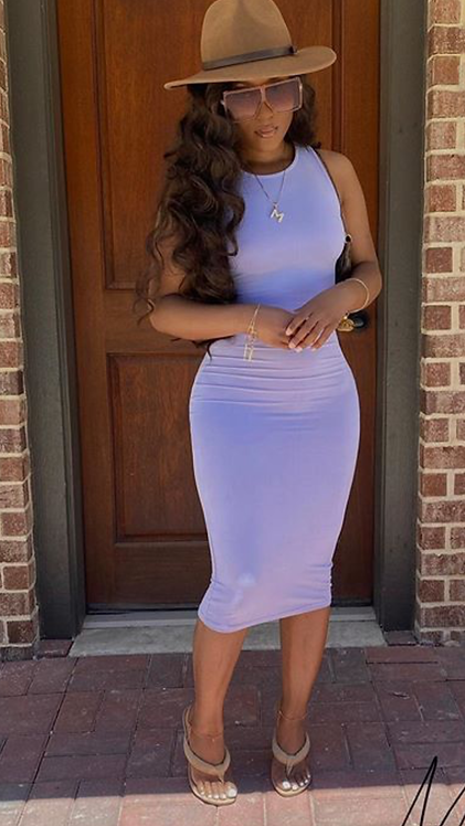 ANY OCCASION DRESS (LAVENDER)