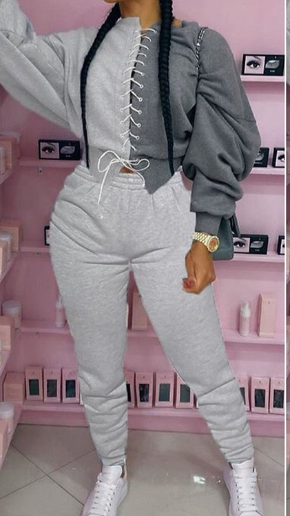 TIE ME UP SWEATSUIT