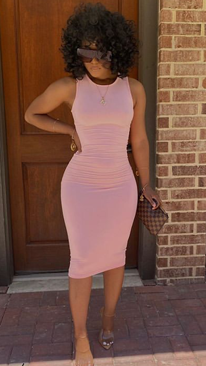 ANY OCCASION DRESS (PINK)