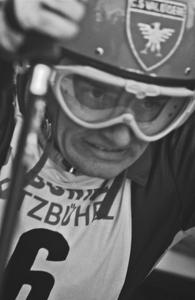 Jean-Claude Killy au départ de Kitzbühel