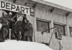 JC Killy départ Jeux Olympiques Grenoble 1968