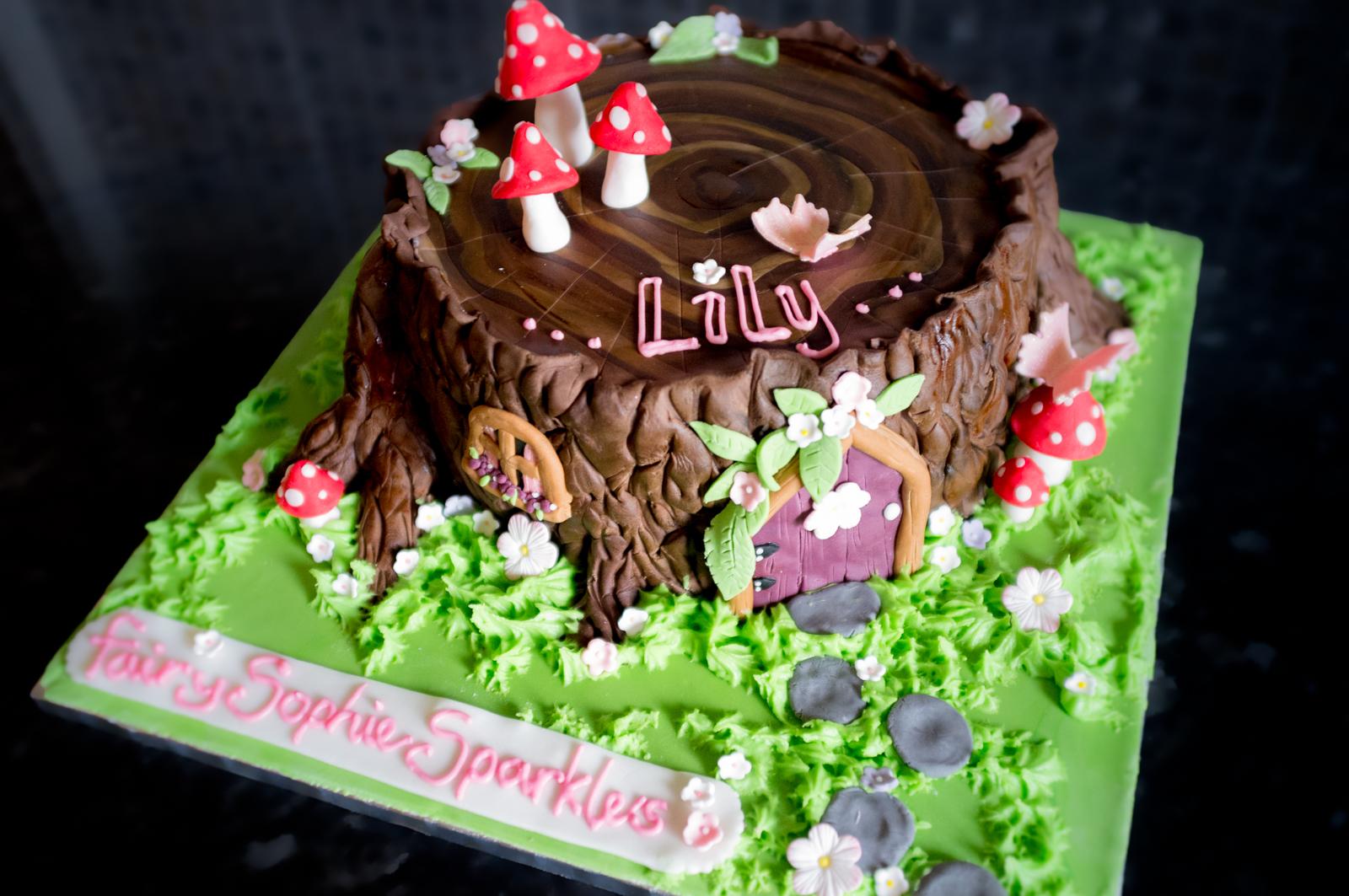 Fairy Tree House Custom Cake