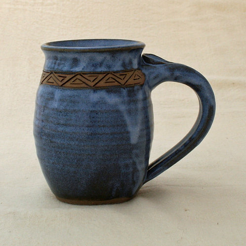 Large Blue Mug