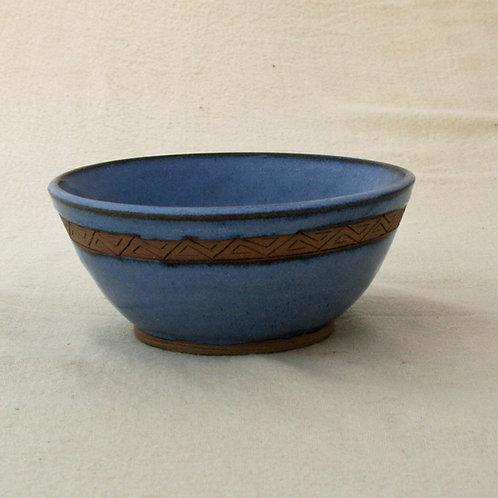 Blue soup/salad bowl