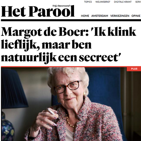 Interview radiopresentator Margot de Boer