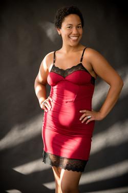 Alexandra Slip Dress in Crimson