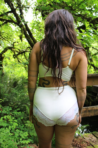 Ivory Bamboo, High Waisted Panties