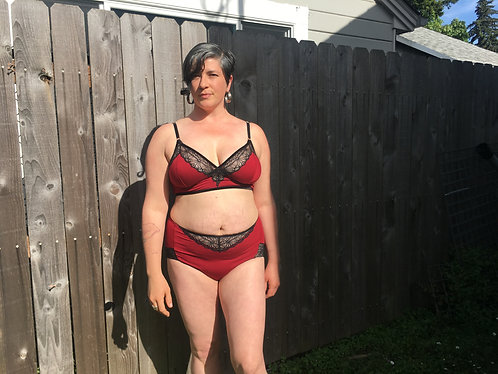 """Crimson"" Bamboo, High Waisted Panties"