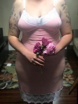 Alexandra Slip Dress in Pink