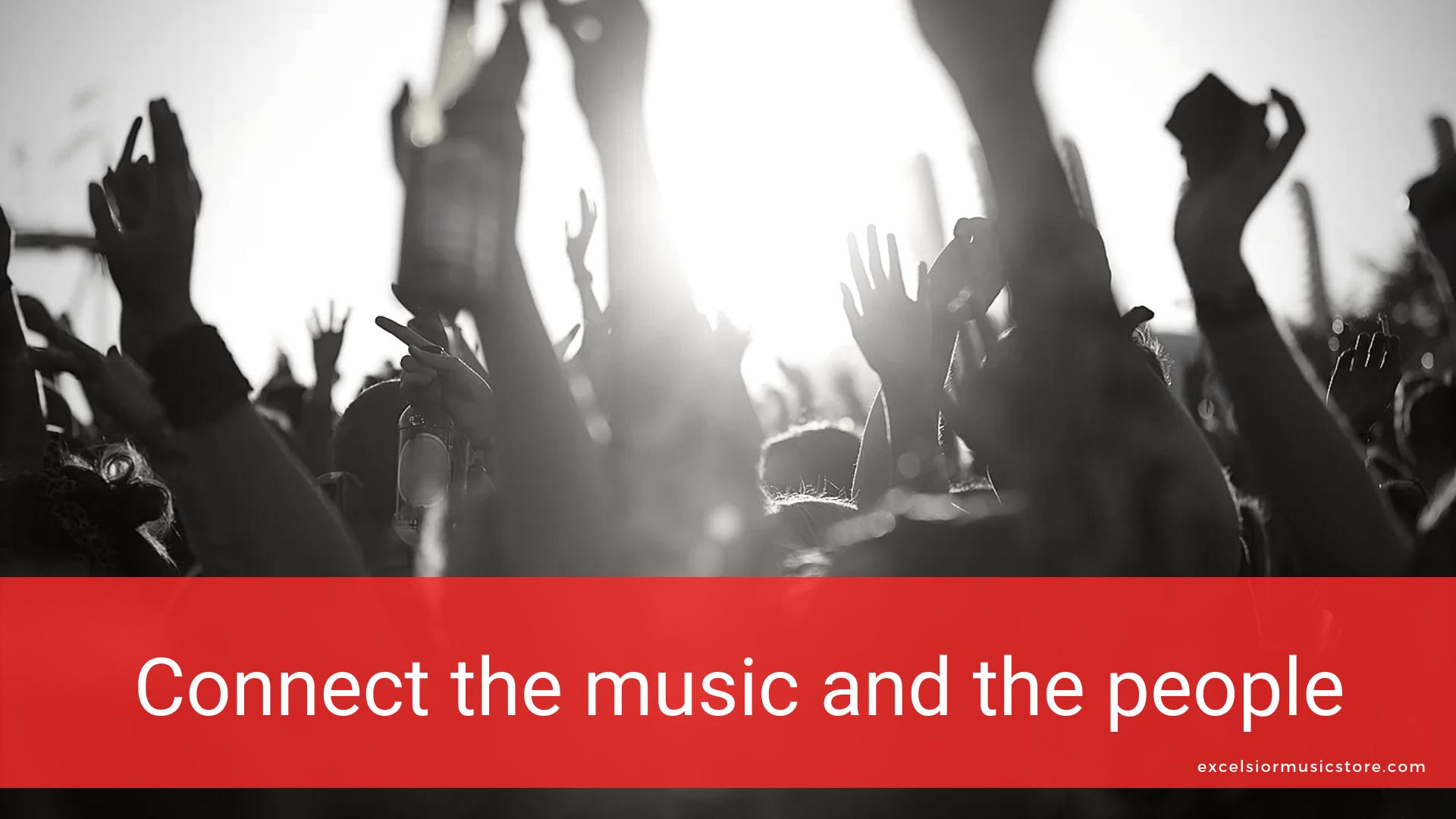 音楽と人を繋げる