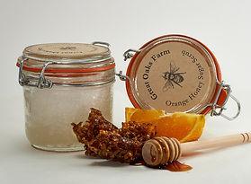 Orange Honey Sugar Scrub Slice Comb Dipp
