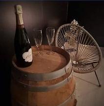 decoration champagne tonneau chambres d'hôtes au vendangeoir couvignon
