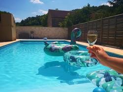 chambres d'hôtes au vendangeoir couvignon piscine
