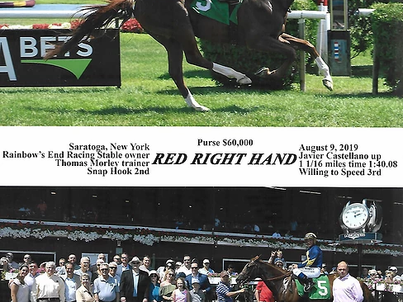 Red Right Hand Wins In Saratoga!