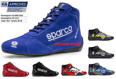 Scarpe omologate Fia Sparco e Sabelt. Scarpe Sparco Slalom, Slalom +, Top, Apex, Skid, Formula.