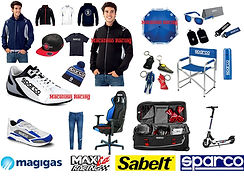 Abbigliamento Sparco, felpe, t-shirt, scarpe, sedie d'ufficio, cappelli, gadget, sedie, borsoni.